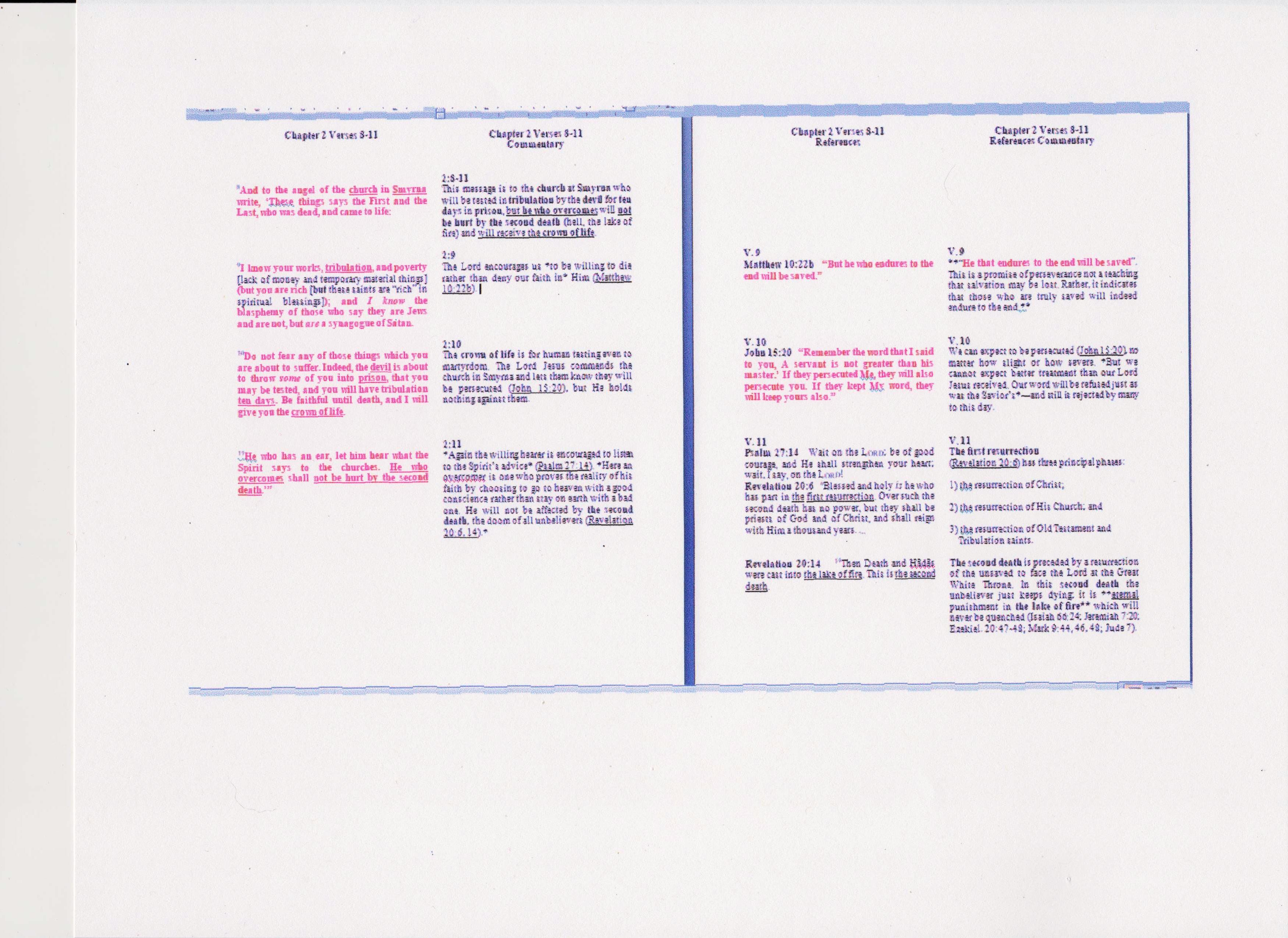 Photo of the layout over 2 side facing pages
